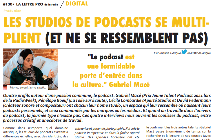 Home, sweet home studio (de podcasts)